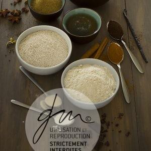 Photo produits culinaires Farines, sucres, épices - Delphine Guichard - Photographe culinaire