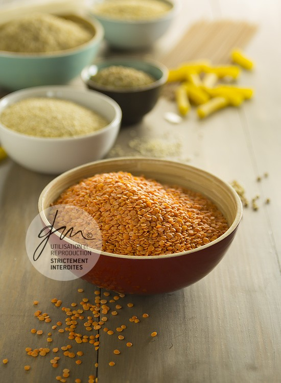 Photo produits culinaires Les légumineuses, lentilles corail - Delphine Guichard - Photographe culinaire