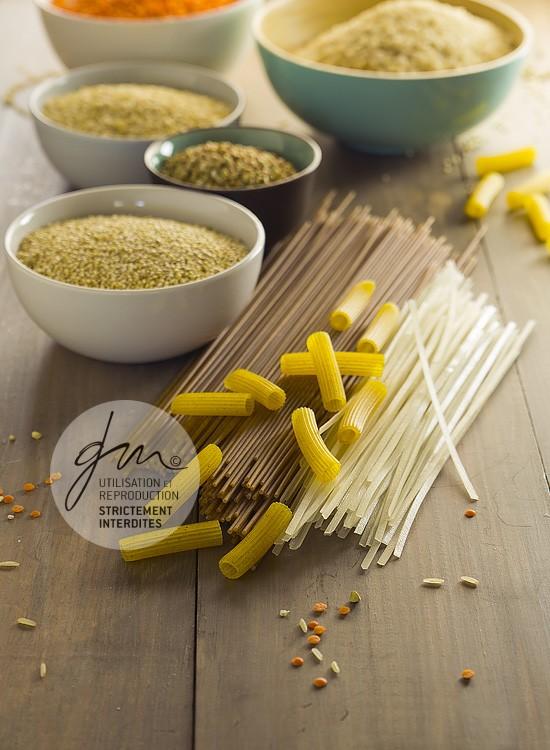 Photo produits culinaires Les pâtes, riz, quinoa, sarrasin - Delphine Guichard - Photographe culinaire
