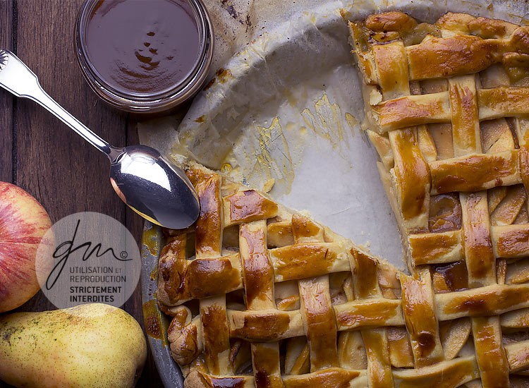 Photo recette - Apple pie caramel au beurre salé - blog Cook'n Focus - Delphine Guichard photographe culinaire