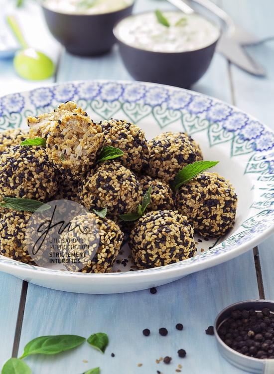 Photo recette - Boulettes de seitan et sauces végétaliennes- blog Cook'n Focus - Delphine Guichard photographe culinaire