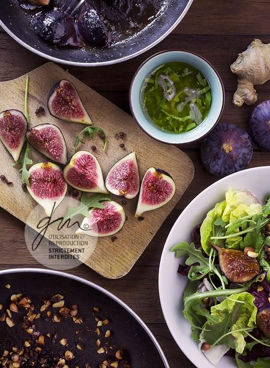 Photo recette - Figues rôties et cacahuètes grillées - blog Cook'n Focus - Delphine Guichard photographe culinaire