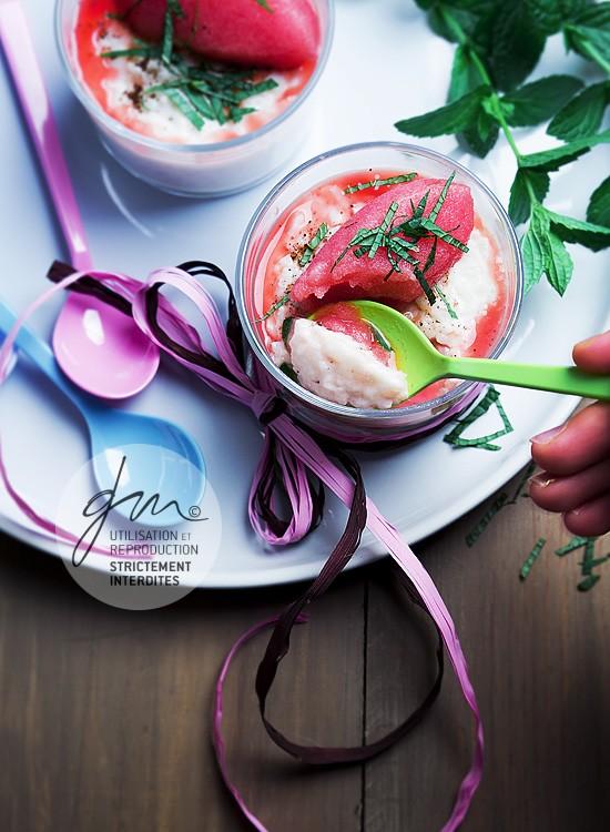 Photo recette - Riz au lait et sorbet pastèque - blog Cook'n Focus - Delphine Guichard photographe culinaire