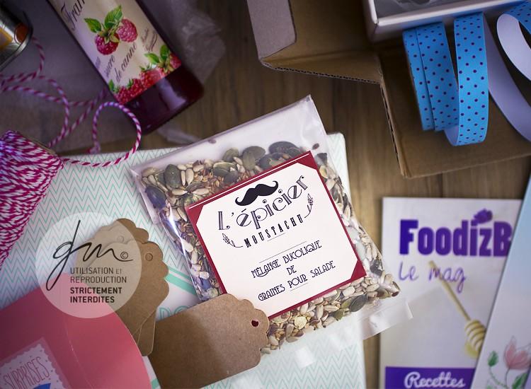 Photo produit Mélange de graines L'épicier Moustachu - Foodiz Box - Delphine Guichard - Photographe culinaire