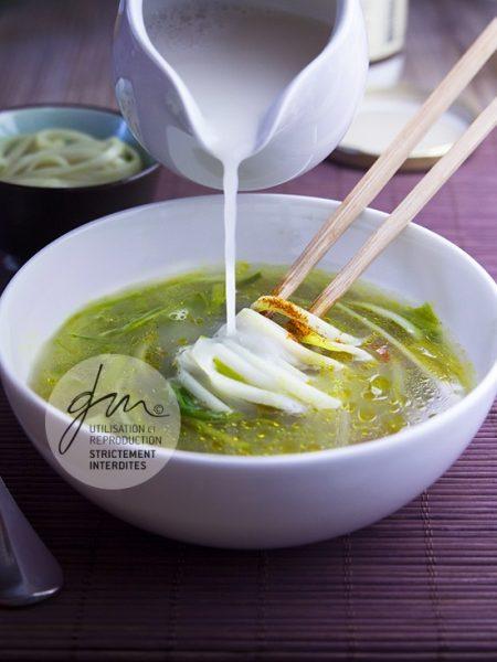 Photo recette Soupe thai au wasabi - Simplement bio, simplement bon - Delphine Guichard - Photographe culinaire