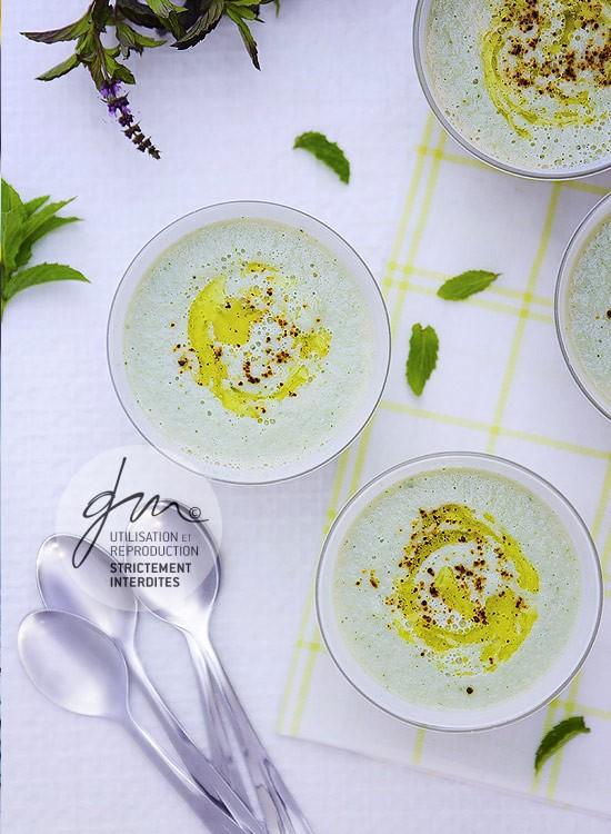 Photo recette Crème de concombre glacée - Simplement bio, simplement bon - Delphine Guichard - Photographe culinaire