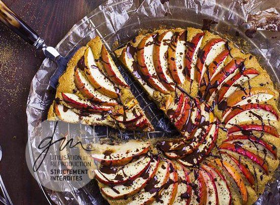 Photo recette Tarte aux pommes à la vanille - Simplement bio, simplement bon - Delphine Guichard - Photographe culinaire