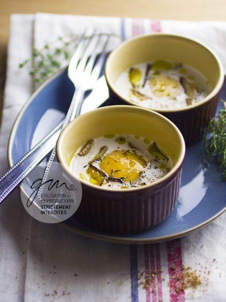 Photo recette Oeufs cocotte shiitake - Simplement bio, simplement bon - Delphine Guichard - Photographe culinaire