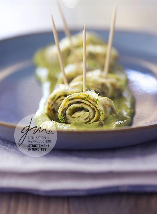 Photo recette Ruban d'omelette tartare d'algues - Simplement bio, simplement bon - Delphine Guichard - Photographe culinaire