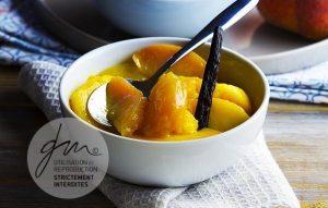Photo recette Pêches poêlées à la vanille - Simplement bio, simplement bon - Delphine Guichard - Photographe culinaire