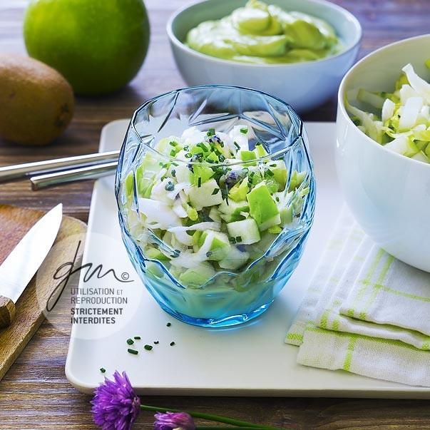 Salade d'endive, pomme verte, kiwi