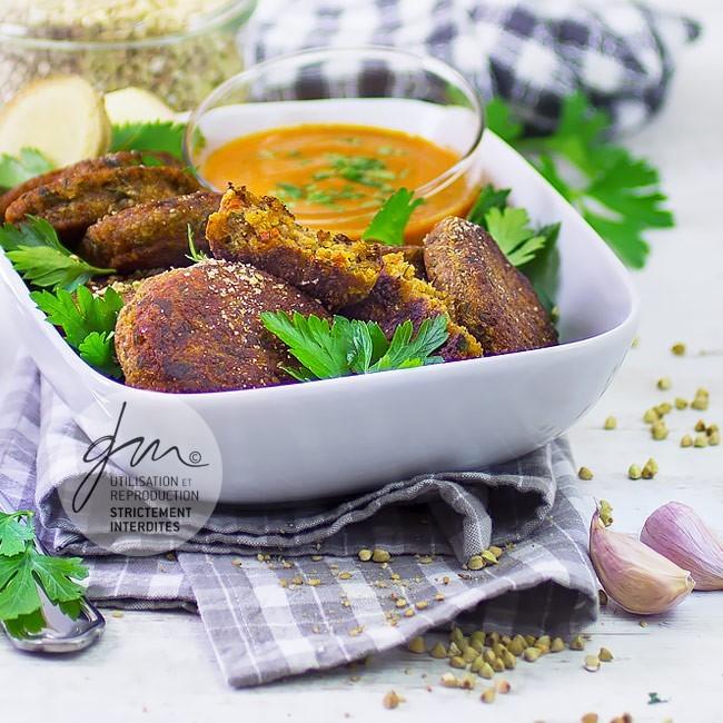 Croquettes de sarrasin au gingembre - Réalisation de la recette de l'auteur, stylisme et photographie culinaire