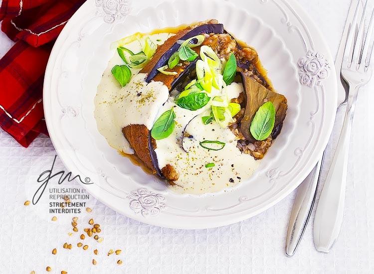 Moussaka au kasha - Réalisation de la recette de l'auteur, stylisme et photographie culinaire