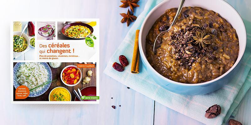 """Photographie culinaire du livre """"Des céréales qui changent !"""""""