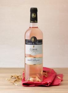 Visuels produits : gamme Cuvée historique, AOC Corse rosé. Direction artistique et photographies